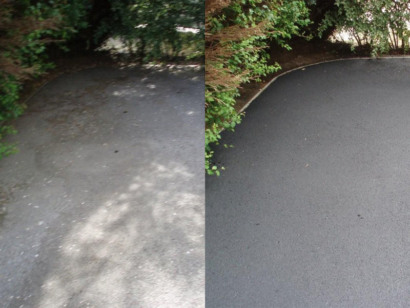 Jet wash drives tips for cleaning asphalt tarmac drives for Best way to clean driveway