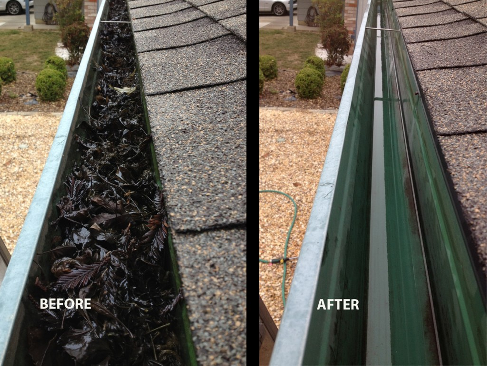 Gutter Cleaning Before And After Jet Wash Drives Ltd